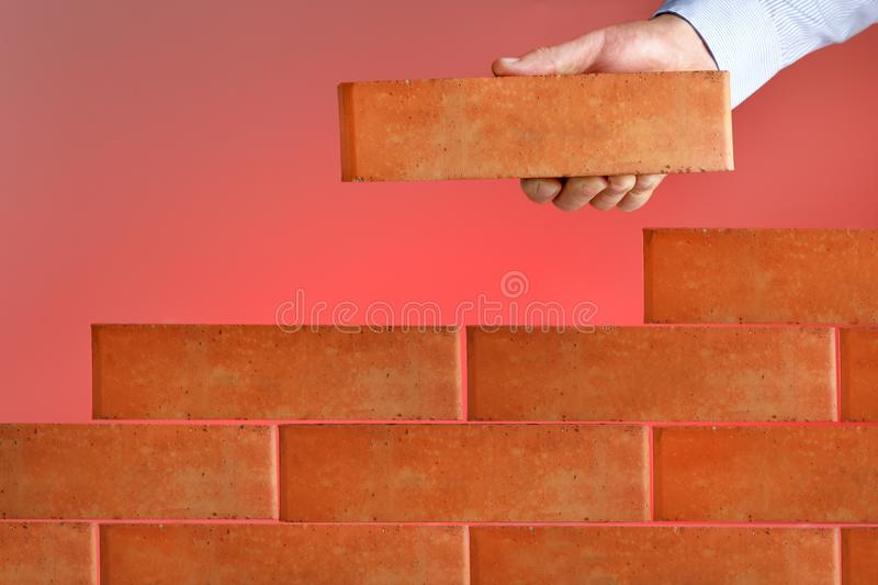 Businessman project, build business. Concept of business plan. royalty free stock images