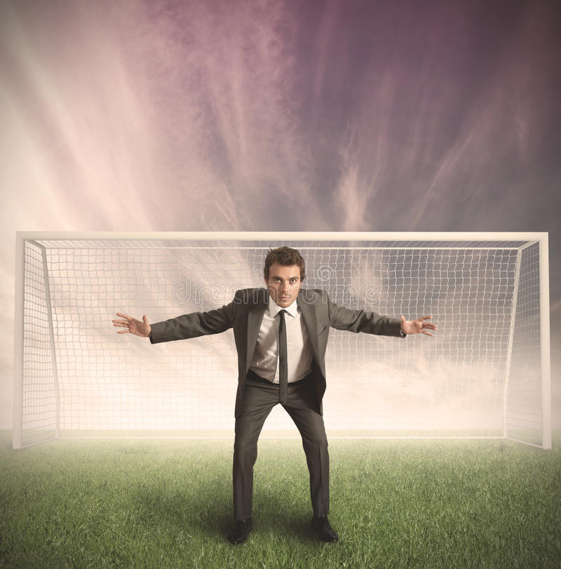 Download Businessman Protects His Business Stock Photo - Image: 25706368