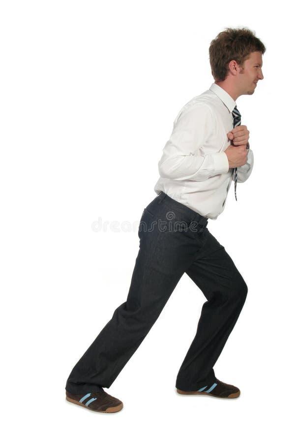 Businessman Pulling royalty free stock photo