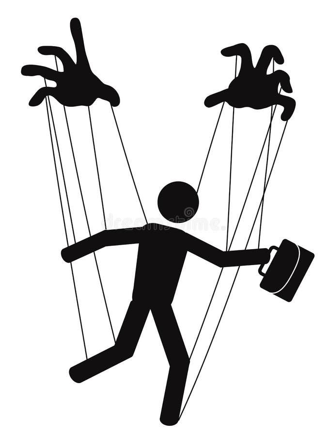 Businessman puppet stock illustration