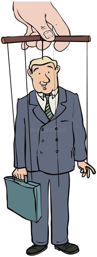 Businessman puppet vector illustration