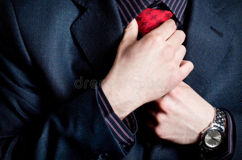 Download Businessman put on the tie stock photo. Image of male - 13619782