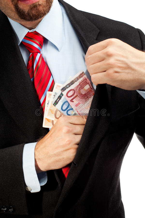 Download Businessman Putting Money In His Pocket. Stock Photography - Image: 25684422