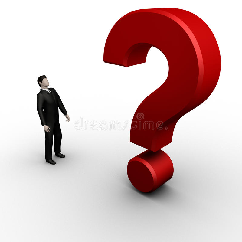 Download Businessman With  Question Mark Stock Illustration - Illustration of point, human: 14370550