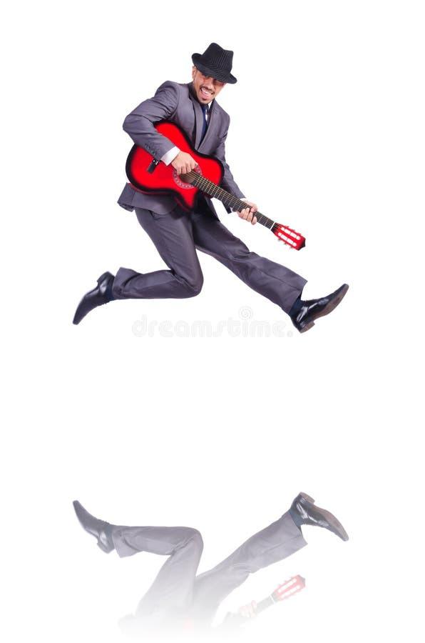 Businessman Quitar Player Stock Photography