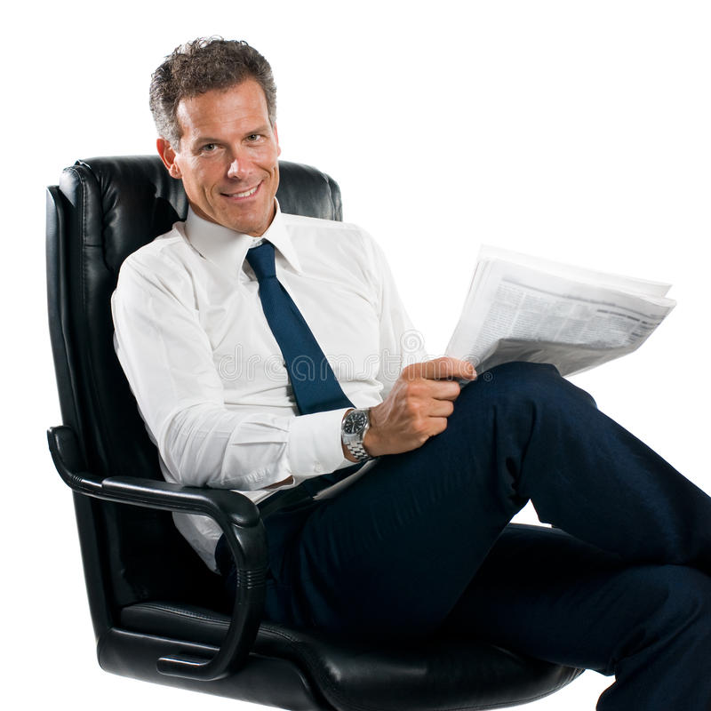 Download Businessman reading news stock photo. Image of newspaper - 9915058