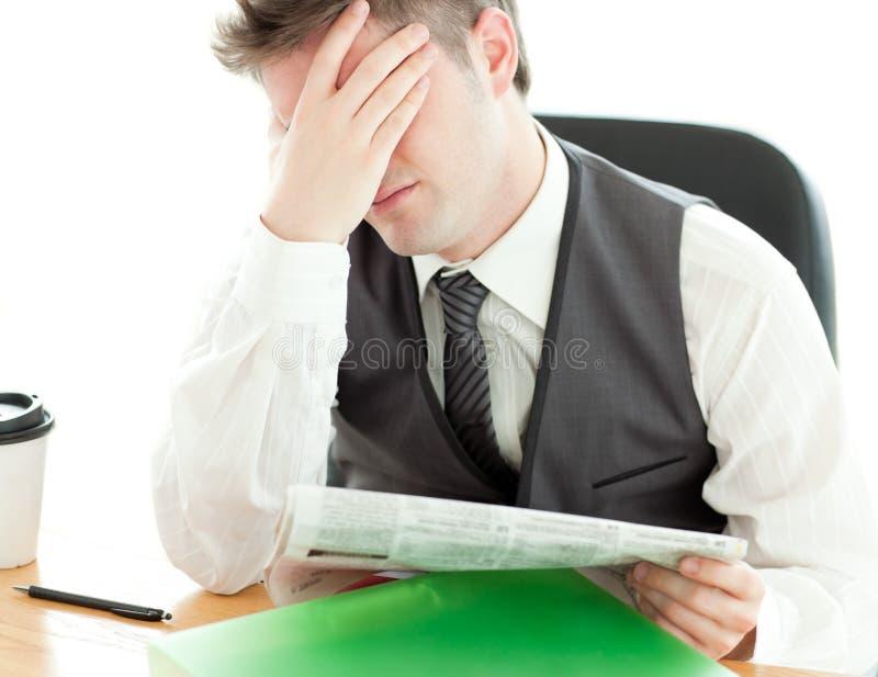 Download Businessman Reading Newspaper Stock Photo - Image: 15266862
