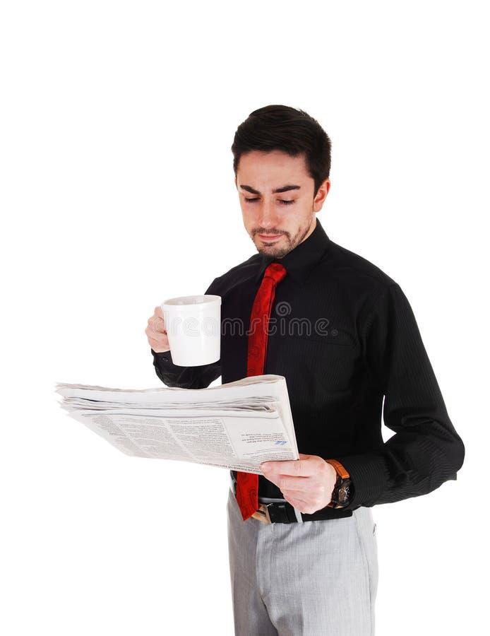 Download Businessman reading paper. stock image. Image of businessman - 39505943