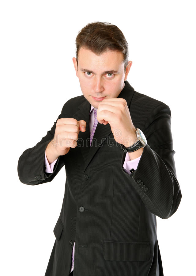 Download Businessman Is Ready For Fight Stock Image - Image of person, concept: 18075723