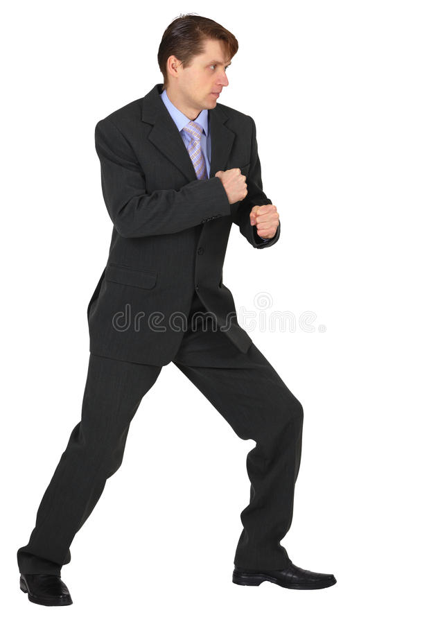 Businessman Ready To Fight Stock Photos