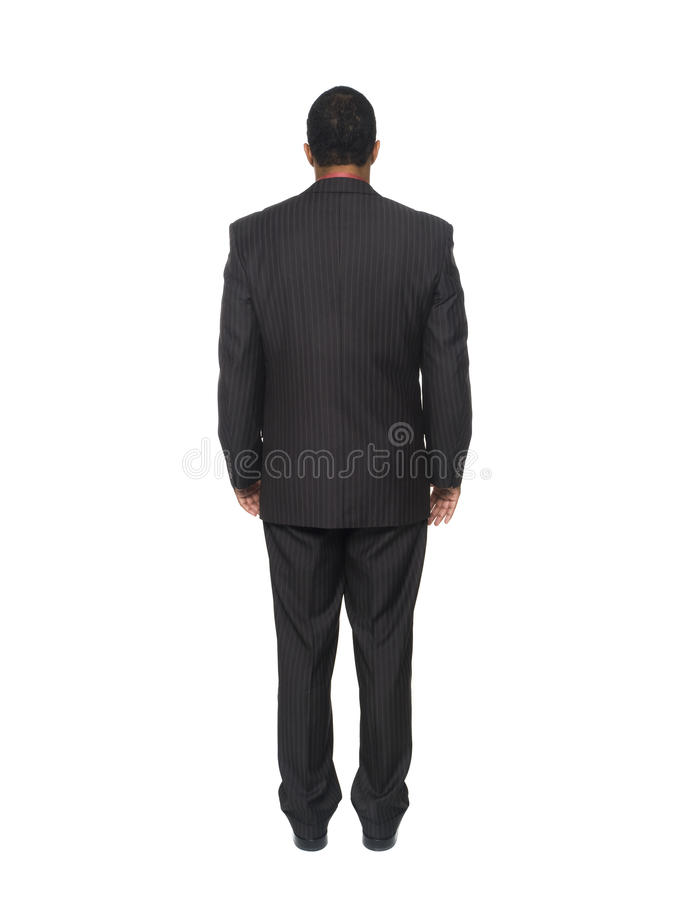 Businessman - rear view stock photo