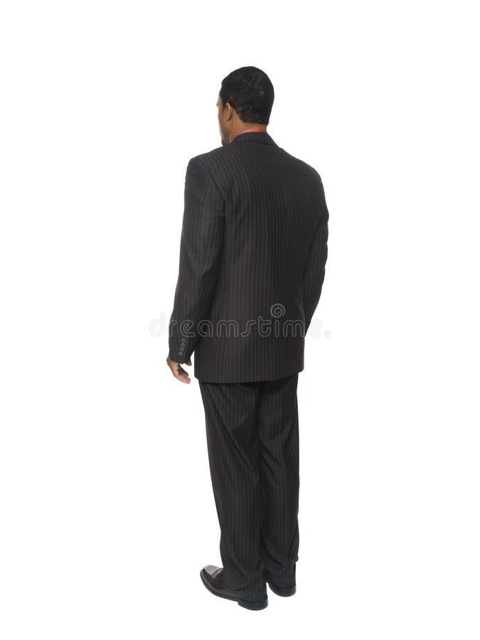 Businessman - rear view royalty free stock photos