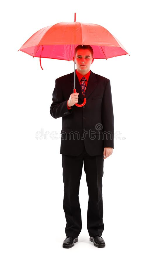 Download Businessman With Red Umbrella Stock Image - Image: 17939353