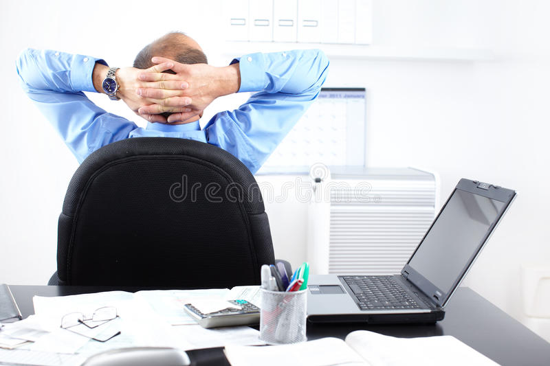 Businessman relaxation royalty free stock photos