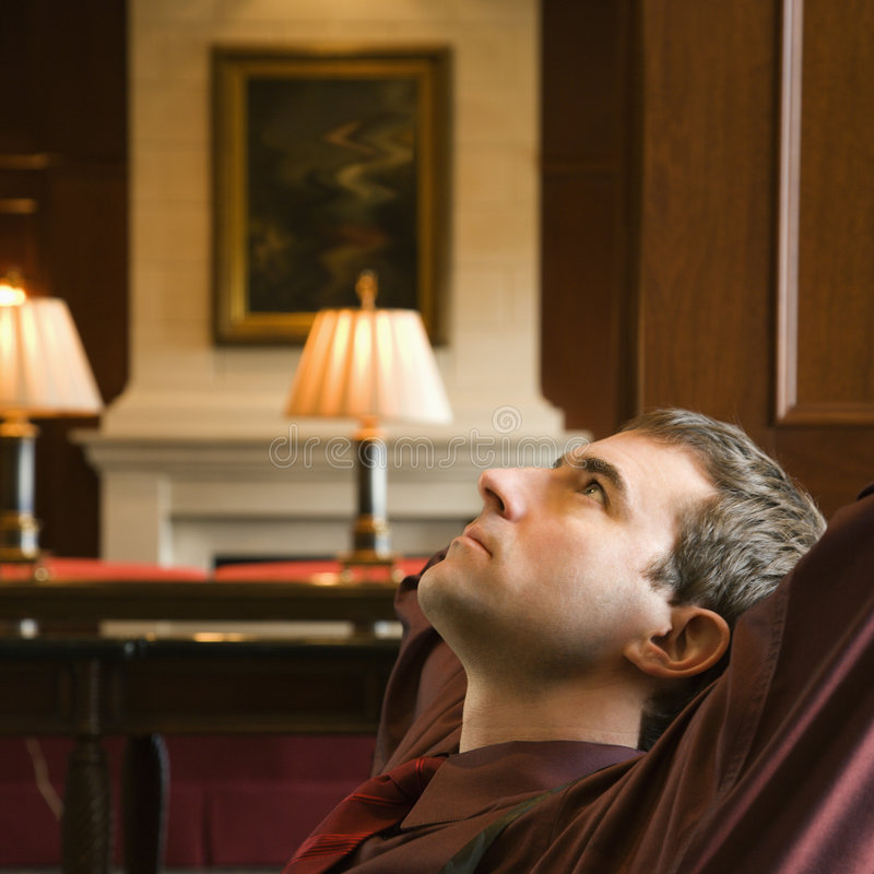 Businessman relaxing. royalty free stock photos