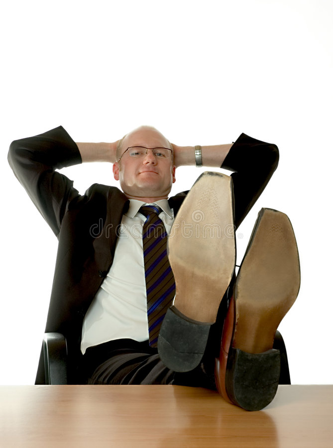 Businessman relaxing stock photos