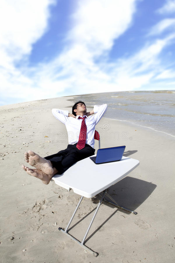 Download Businessman Relaxing Outdoor Stock Photo - Image: 25196690