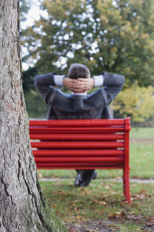 Download Businessman Relaxing In A Park Royalty Free Stock Photo - Image: 3340035