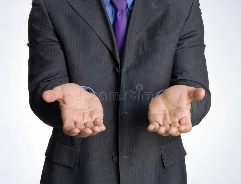 Businessman. Request attitude businessman hand,shaking hand royalty free stock photo