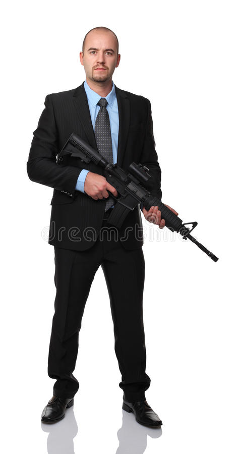 Download Businessman with rifle stock image. Image of soldier - 27010853