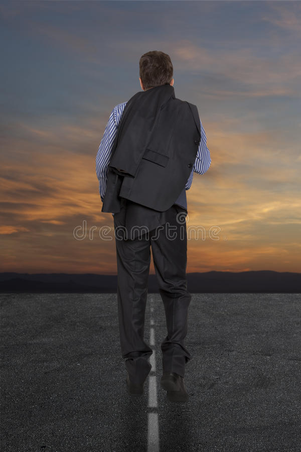 Businessman Is On The Road Royalty Free Stock Image