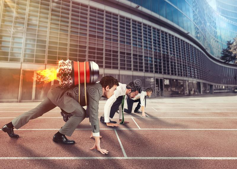 Push to reach the goals before the others royalty free stock photos