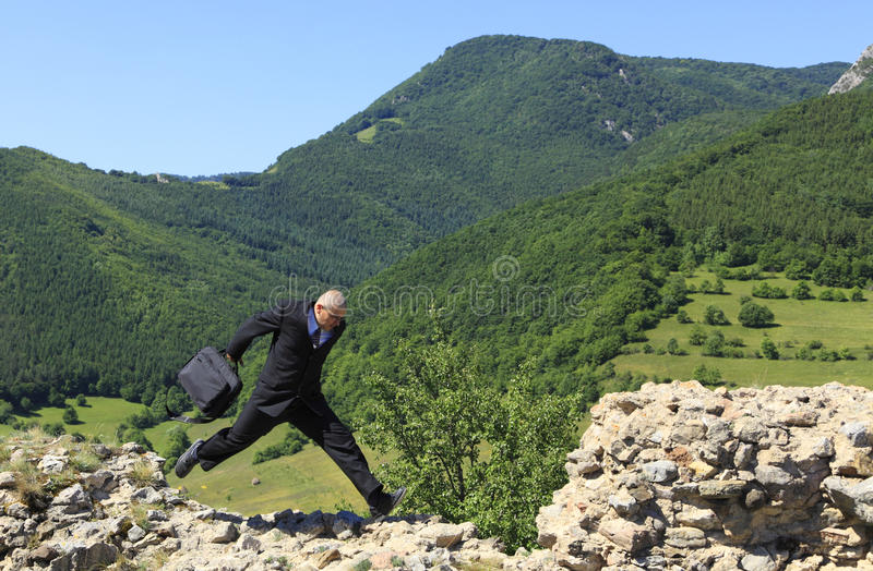 Download Businessman running stock photo. Image of jump, landscape - 12374044