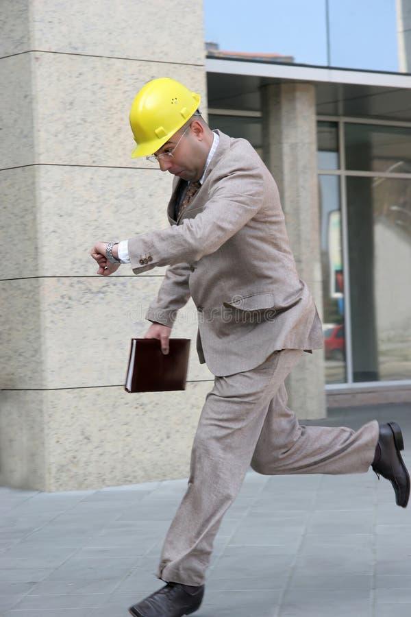 A businessman running royalty free stock photos
