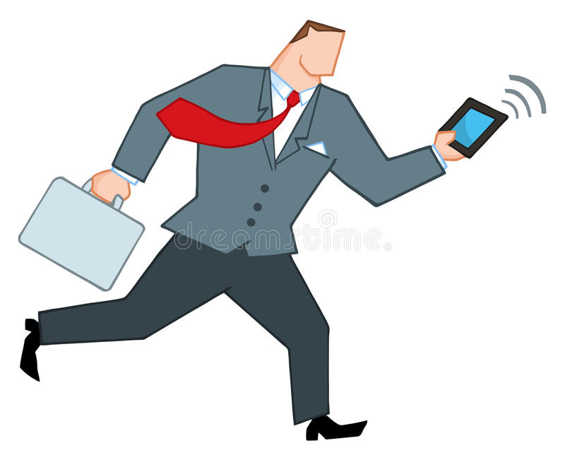 Download Businessman Running With A Briefcase Stock Vector - Illustration of cartoons, business: 18004708