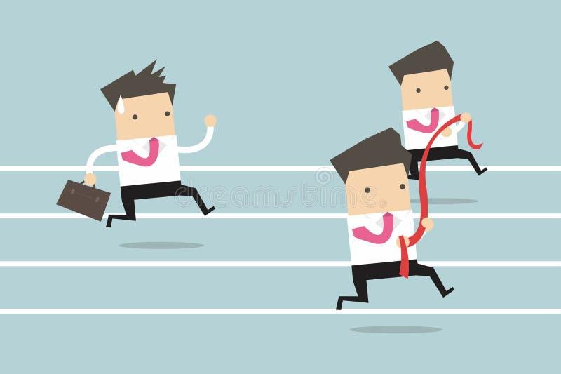 Businessman running competition vector illustration