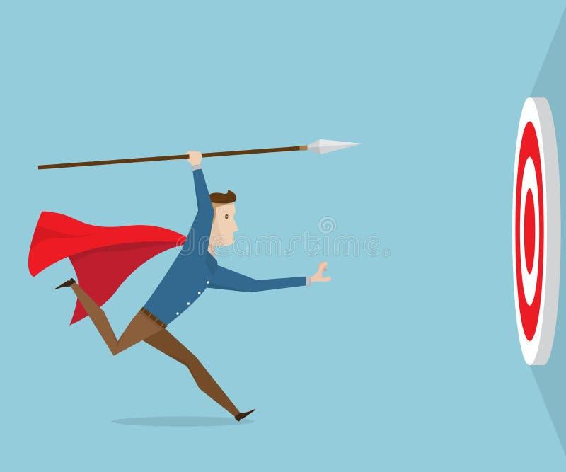 3d man running with spear stock illustration  illustration of arrow