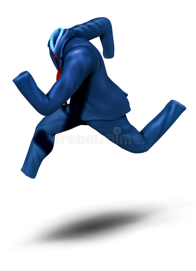 Businessman running too fast illustration vector illustration