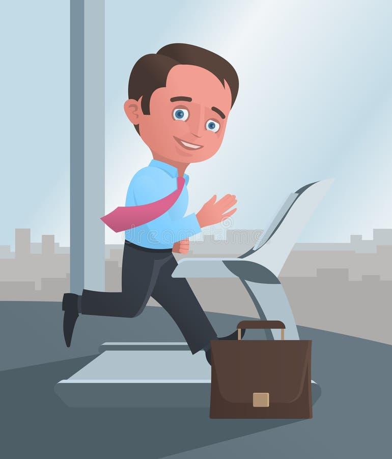 Businessman Running On A Treadmill Royalty Free Stock Photos
