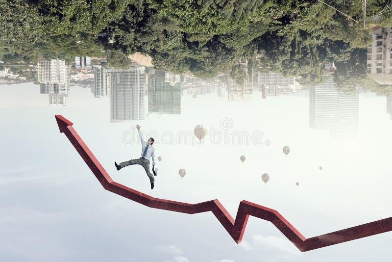 Climbing up to success. Mixed media stock images