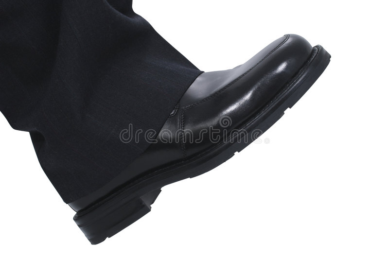 Businessman's Foot royalty free stock photo