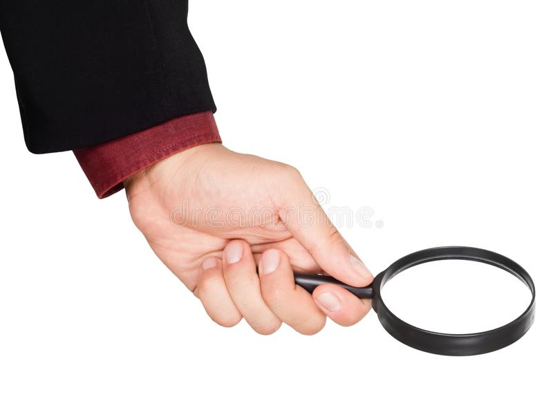 Download Businessman's Hand Holding Magnifying Glass Stock Image - Image: 17027971