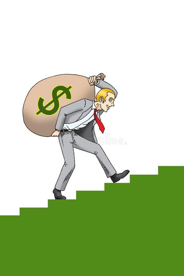 Download Businessman With Sack Of Money Stock Illustration - Image: 7851225