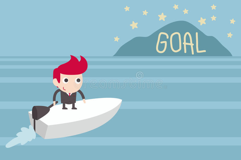 Goal setting stock illustration