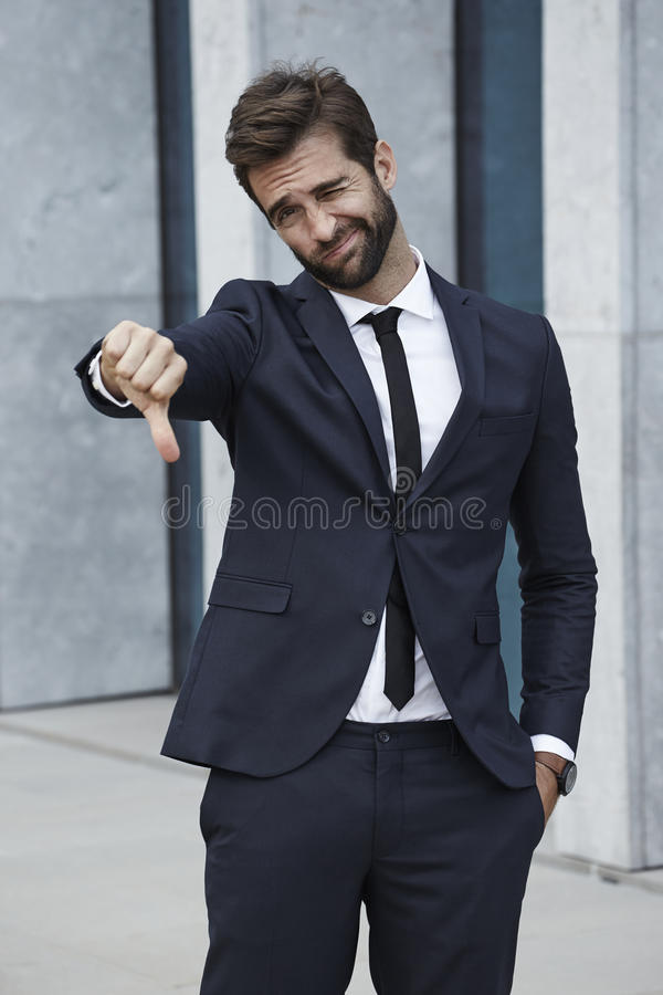 Businessman saying 'No' royalty free stock images