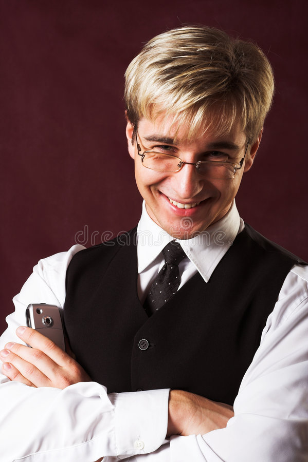 Businessman Saying Welcome Stock Images