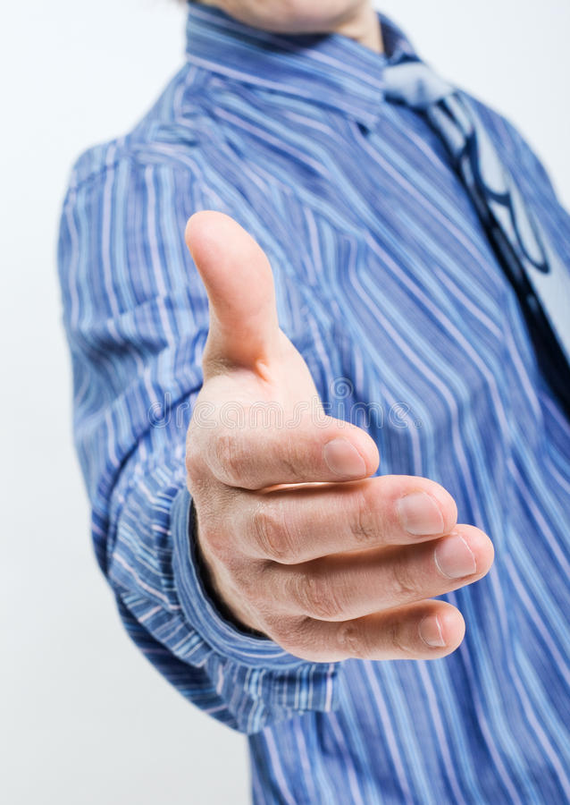 Download Businessman Saying Welcome Royalty Free Stock Photos - Image: 24416478