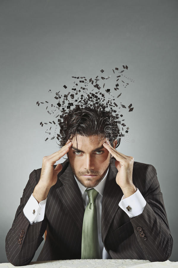 Download Businessman With Scattered Mind Stock Photo - Image: 36335792