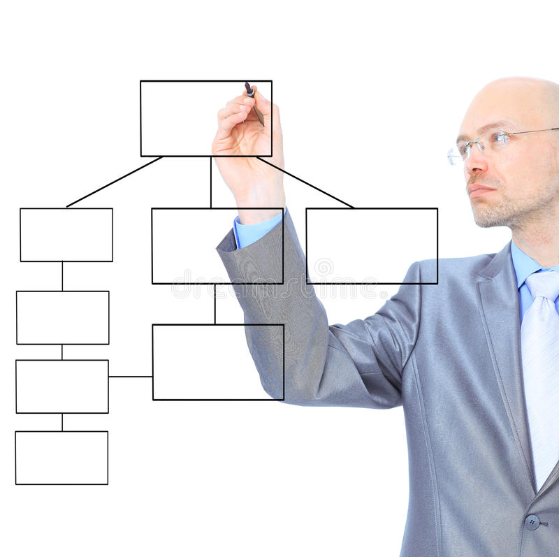 Download Businessman Scheme Draw Contract Stock Image - Image: 26125285