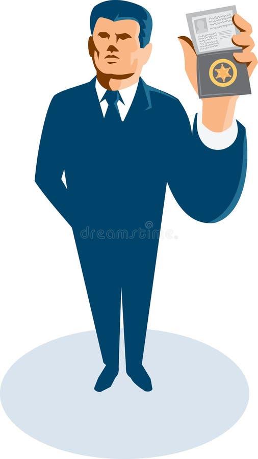 Businessman Secret Agent ID Card Badge Wallet vector illustration