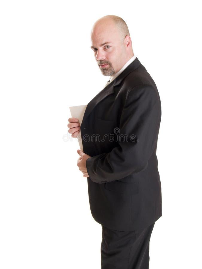 Businessman - secret document