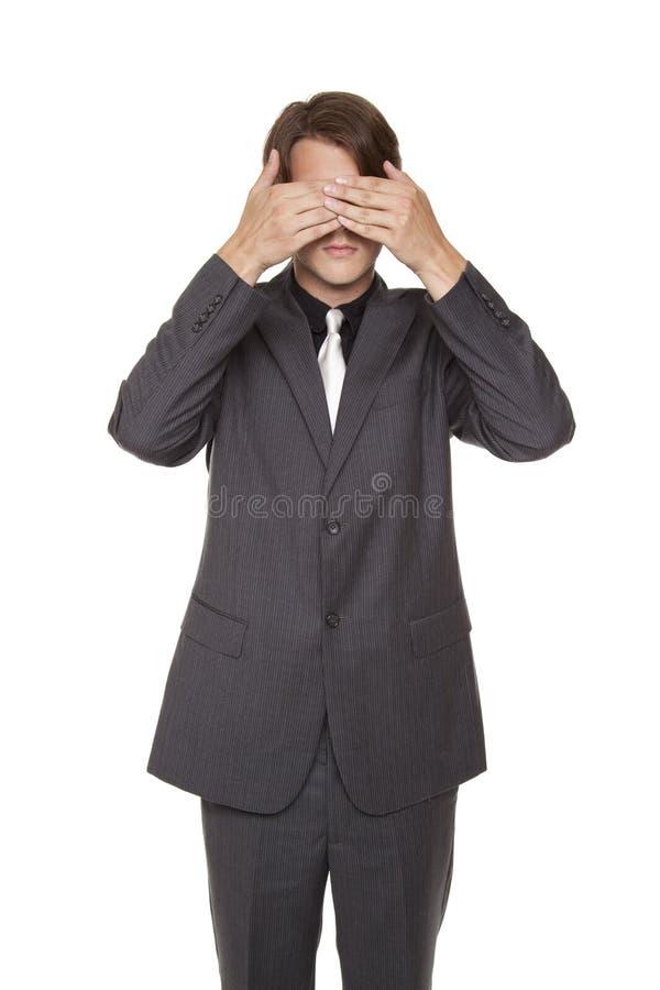 Download Businessman - see no evil stock image. Image of handsome - 16461109