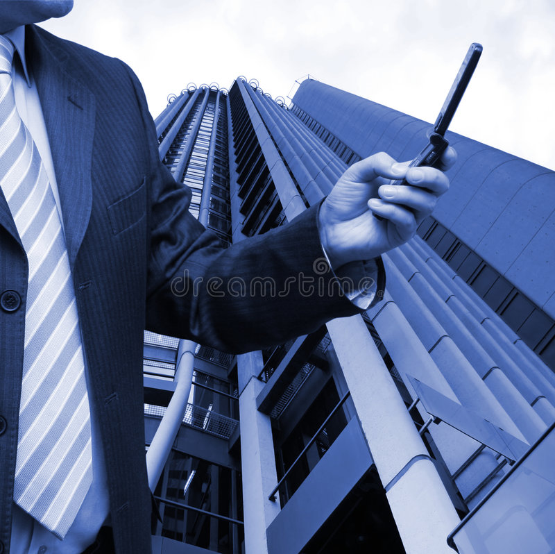 Businessman selling shares stock photos