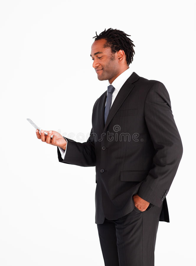 Download Businessman Sending Text Message Stock Images - Image: 10414484