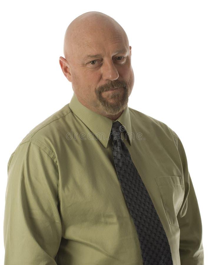 businessman senior on an isolated white background stock photos