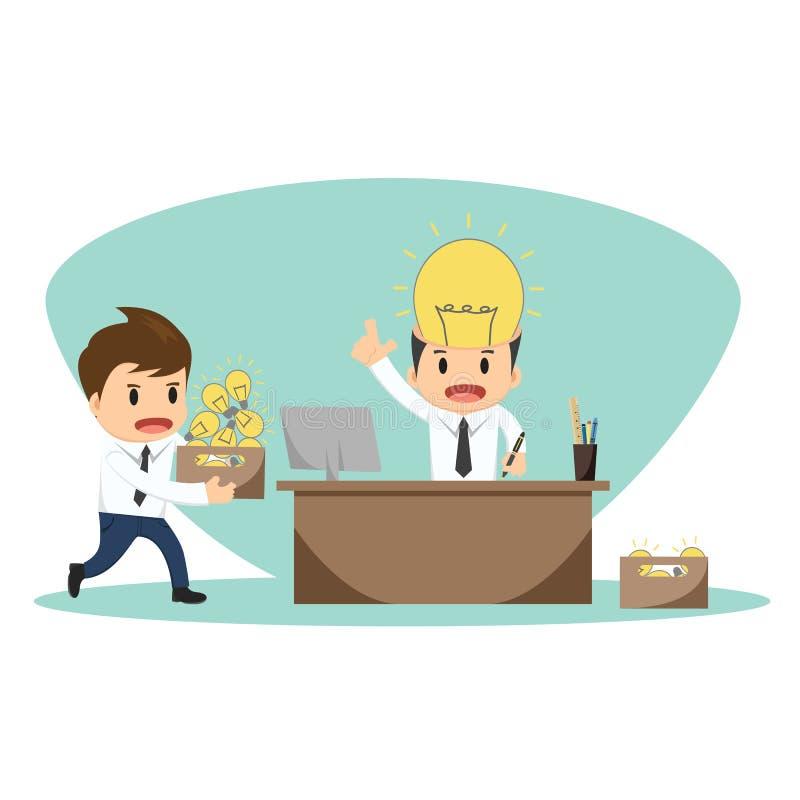Businessman serving idea vector illustration royalty free illustration